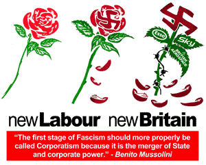 Fascism of New Labour Party in Britain