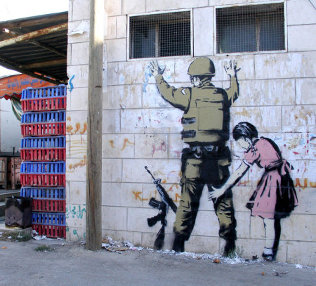 Banksy Soldier Patdown